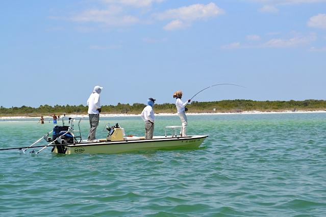 captain wayne simmons fly fishing guide tampa with hellsbay marquesa flats boat